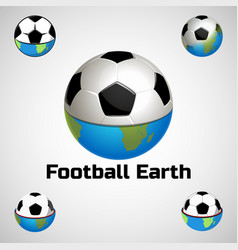 football earth logo for the team and the cup vector image vector image