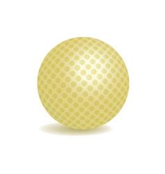 golden golf ball vector image vector image