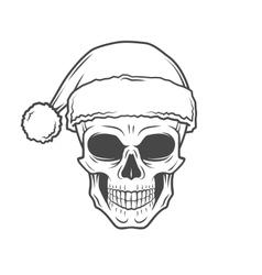 Heavy metal christmas design bad santa claus vector