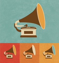 Old Record Player vector image vector image