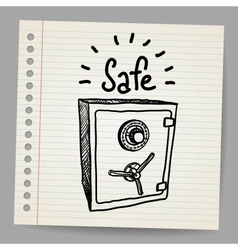 Sketch of a safe vector image