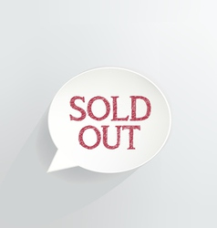 Sold Out vector image