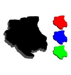 3d map of suriname vector image