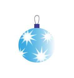 a christmas ball with stars of icon vector image