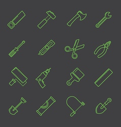 A tool icon set vector