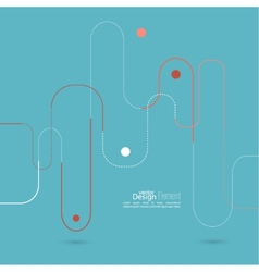 Abstract background with curved lines dotted lines vector image