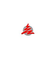 abstract draw logo vector image