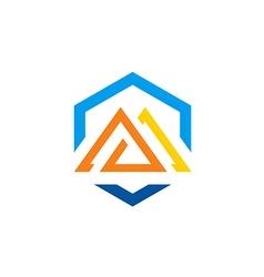 Abstract shape construction logo vector