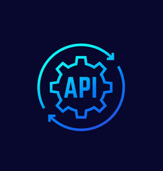 Api technology icon for apps and web vector