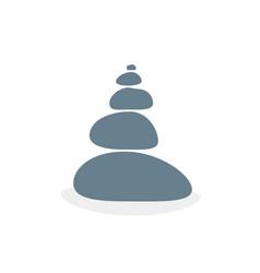 balanced stones like meditation or zen vector image