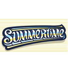 Banner for summertime vector
