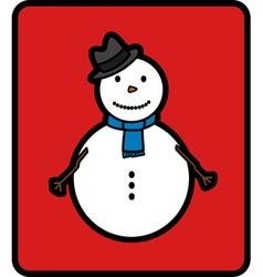 Basic snowman vector image