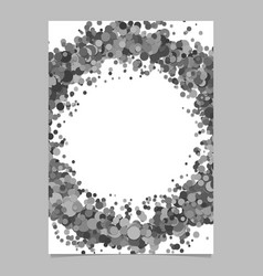 Blank abstract dispersed confetti dot brochure vector