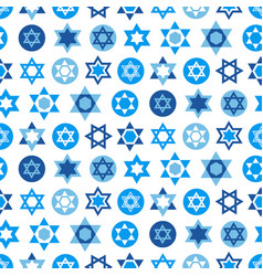 Blue star of david symbols collection vector