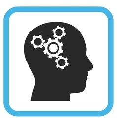 Brain Mechanics Icon In a Frame vector image