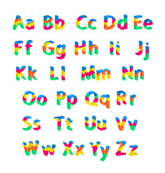Bright alphabet vector
