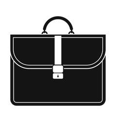 Brown business briefcase black simple icon vector