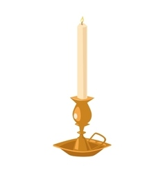 Burning candle flat vector