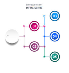 business infographics strategy chart design vector image