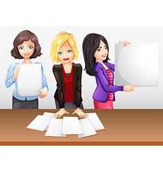 Businesswomen working in team vector