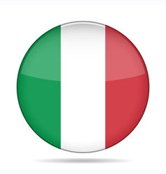 Button with flag of Italy vector