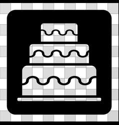 Cake rounded square vector