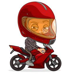 cartoon funny boy character ready for animation vector image