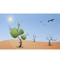 Cartoon landscape of desert for game design vector image