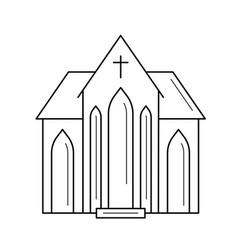 Church line icon vector