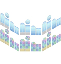 collection windows in isometric view vector image