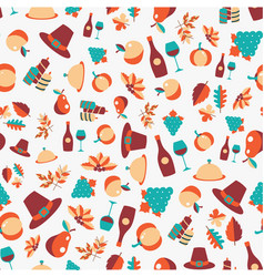 colorful seamless pattern of thanksgiving vector image