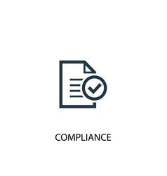 Compliance icon simple element vector