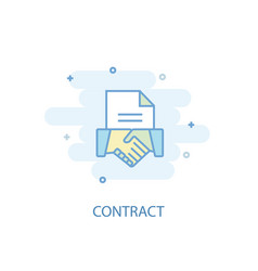 contract line concept simple line icon colored vector image