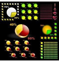 diagram set vector image