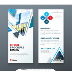 Dl flyer design blue template dl flyer banner vector