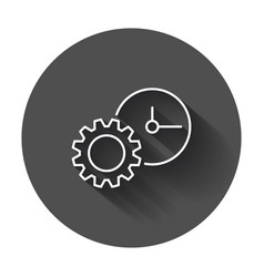 document icon project management flat with long vector image