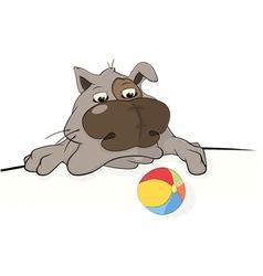Dog and a ball vector image