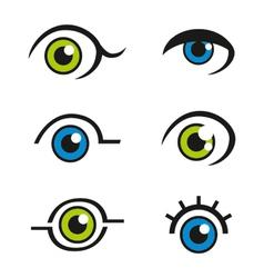 Eye Icons Logos vector image vector image