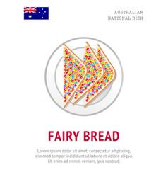 fairy bread traditional australian dish vector image