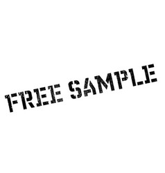 Free sample rubber stamp vector