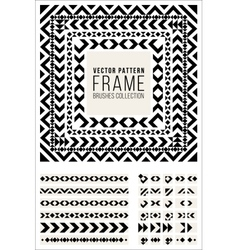 Geometric Decorative Frame Triangle Rhombus vector