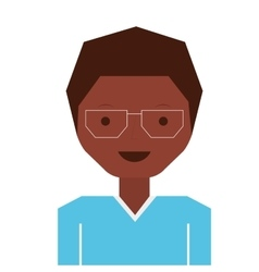 Glasses boy icon vector