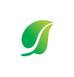 Green leaf nature organic logo vector