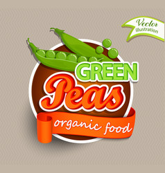 Green peas logo vector