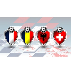group a soccer europe vector image