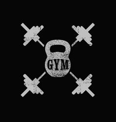 Gym club vintage grunge poster emblem or logo vector