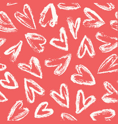 hand drawn heart background vector image