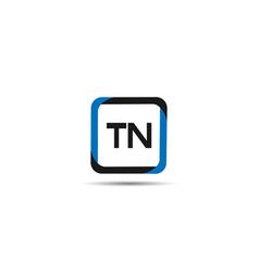 Initial letter tn logo template design vector