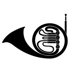isolated horn icon musical instrument vector image