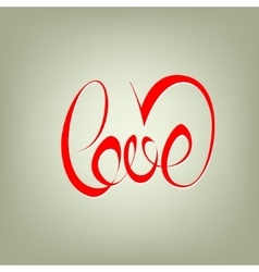Love curly calligraphy sign vector